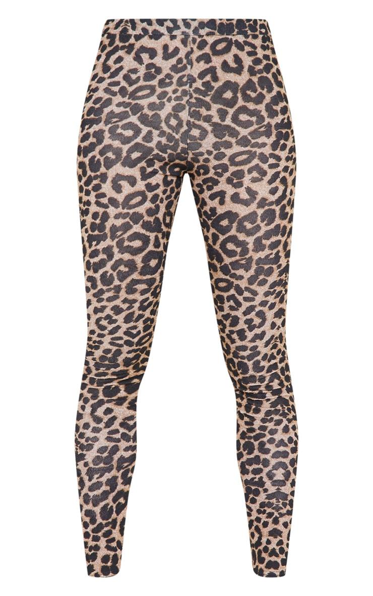 Legging imprimé léopard marron 3