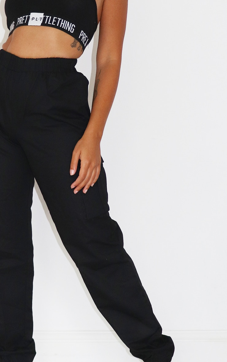 Petite Black Pocket Detail Cargo Pant 4