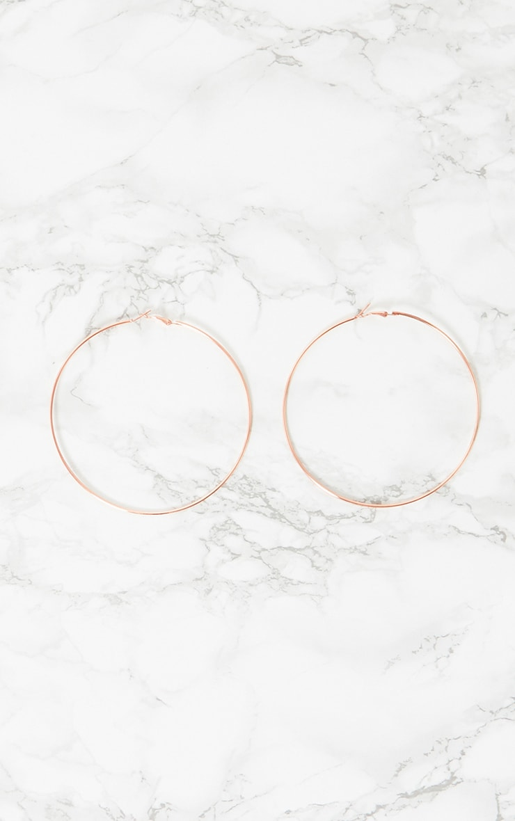 Rose Gold Large Hoop Earrings 3