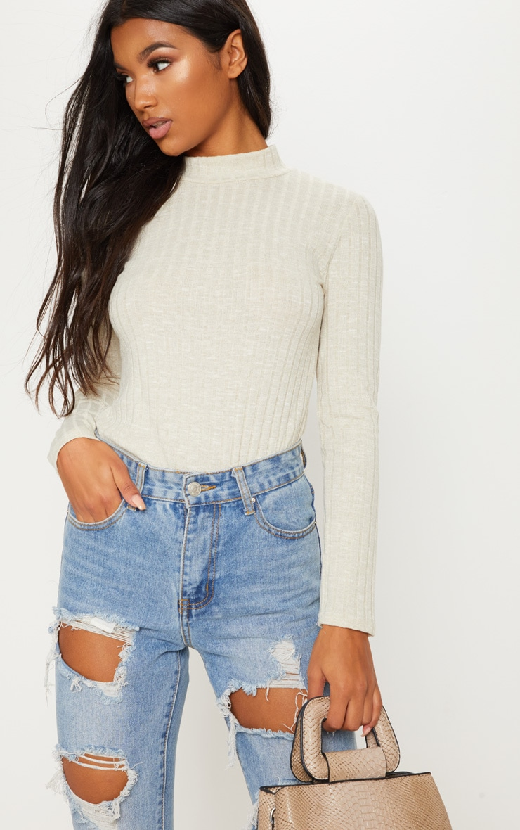 Stone Long Sleeve High Neck Top 4