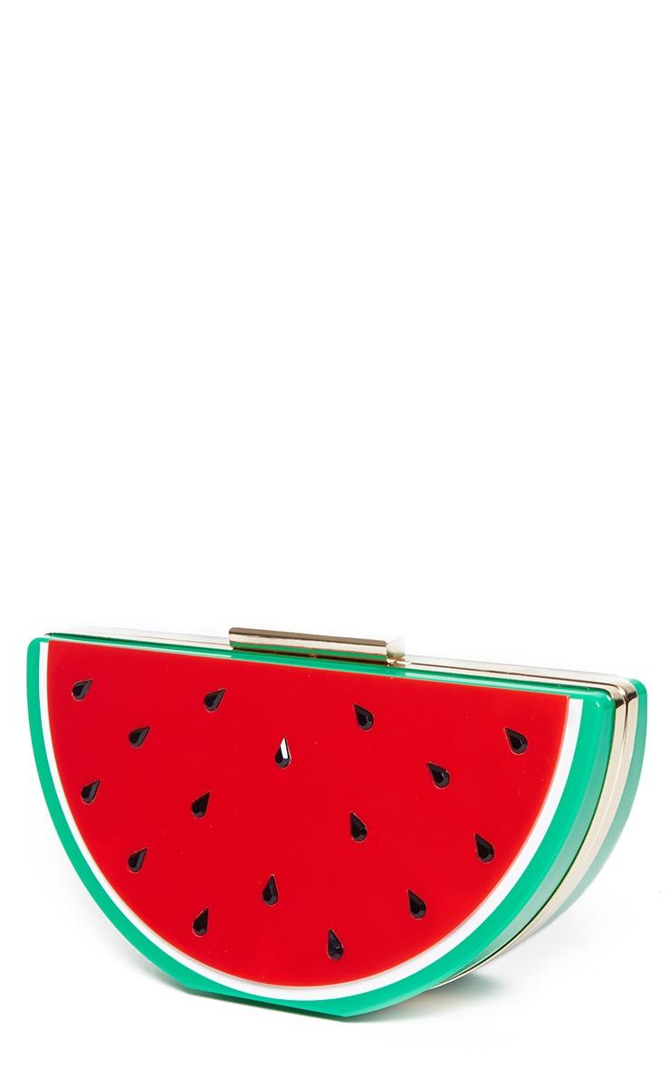 Lorian Red Watermelon Clutch 4