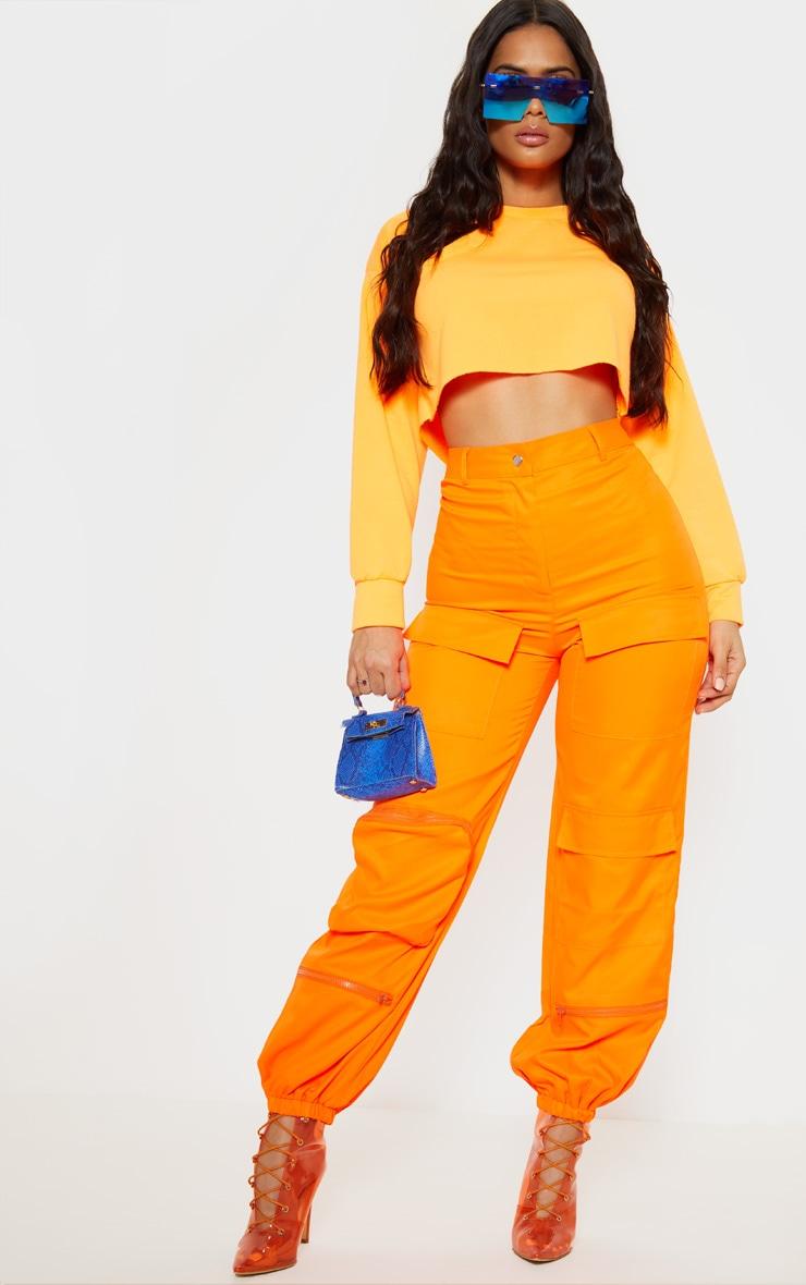 Orange 3D Pocket Cargo Trouser 1