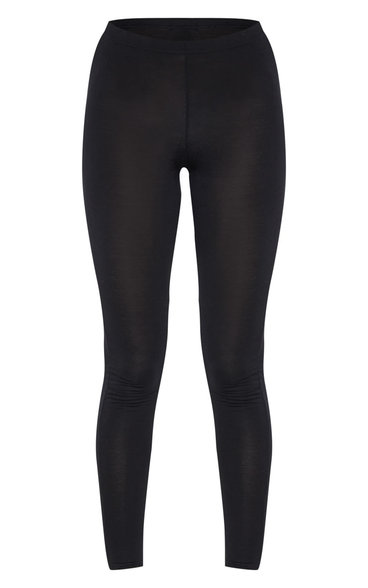 Tall Black  Basic Jersey Leggings  3