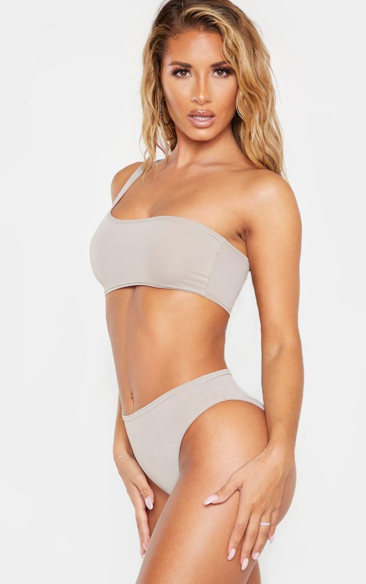 Grey Full Coverage Bikini Bottom 3