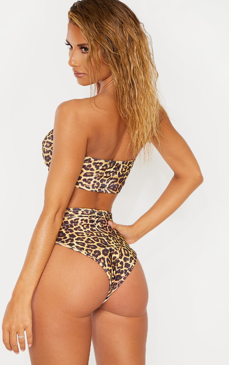 Leopard Mix & Match Bandeau Bikini Top 2