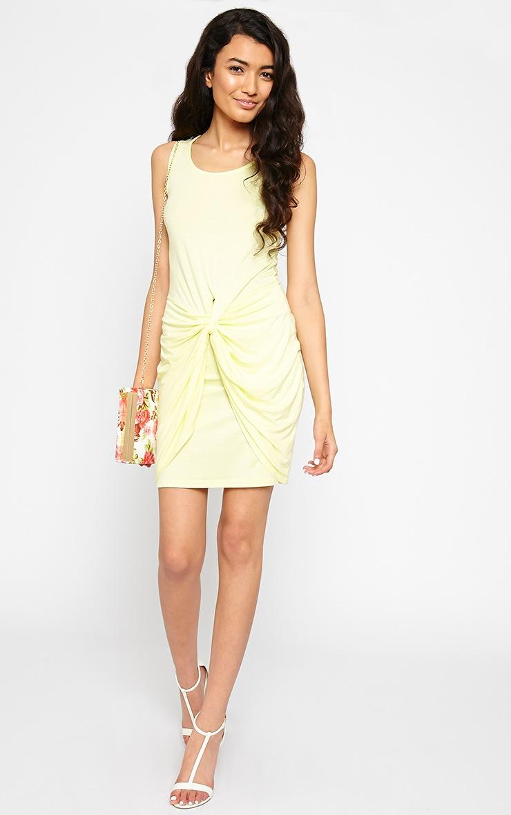 Izabella Lemon Twist Front Dress 3