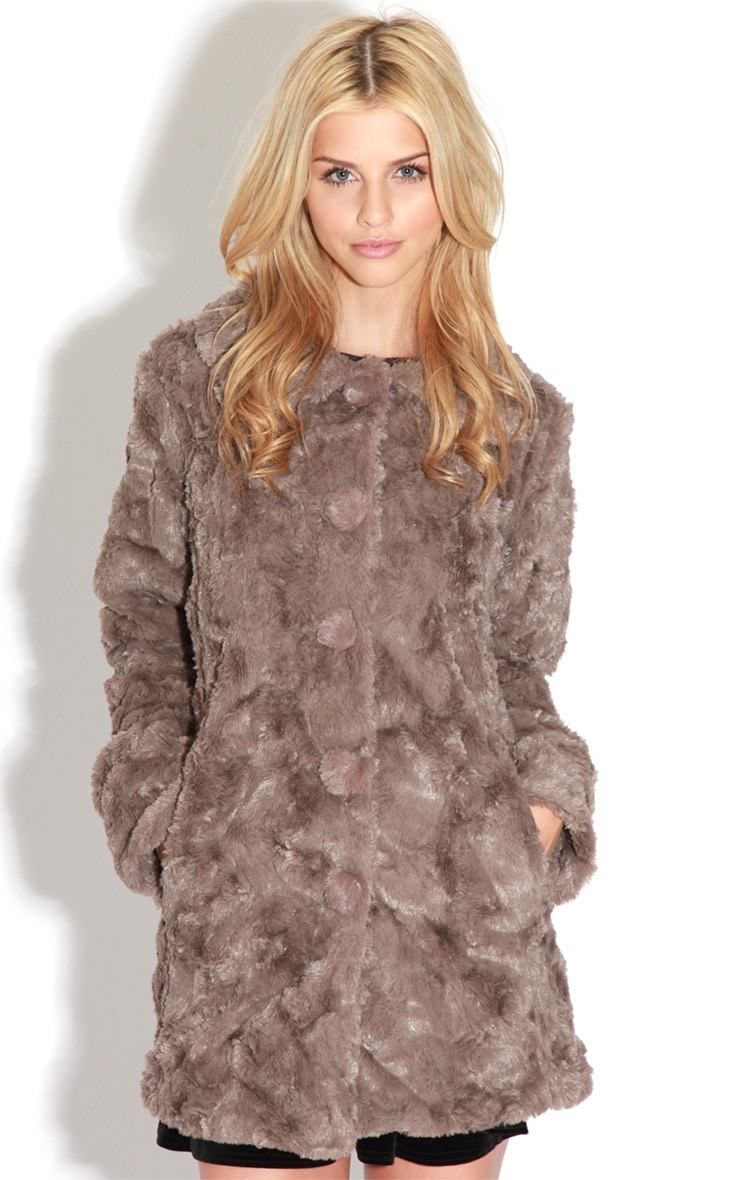 Rani Mocha Faux Fur Coat 4