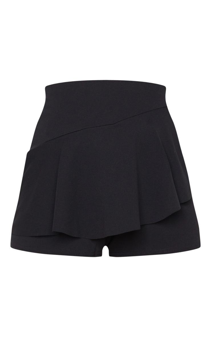Jupe-short noire volantée 6