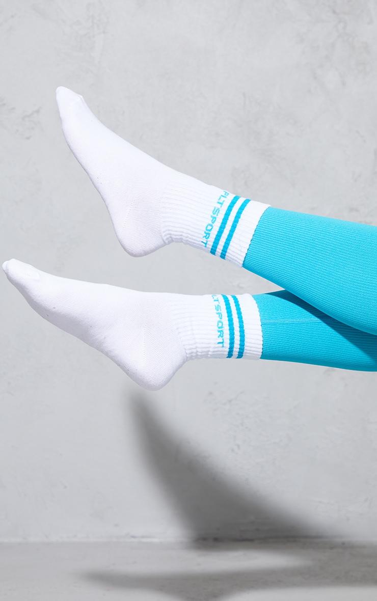 PRETTYLITTLETHING Aqua 2 Pack Sport Socks 2