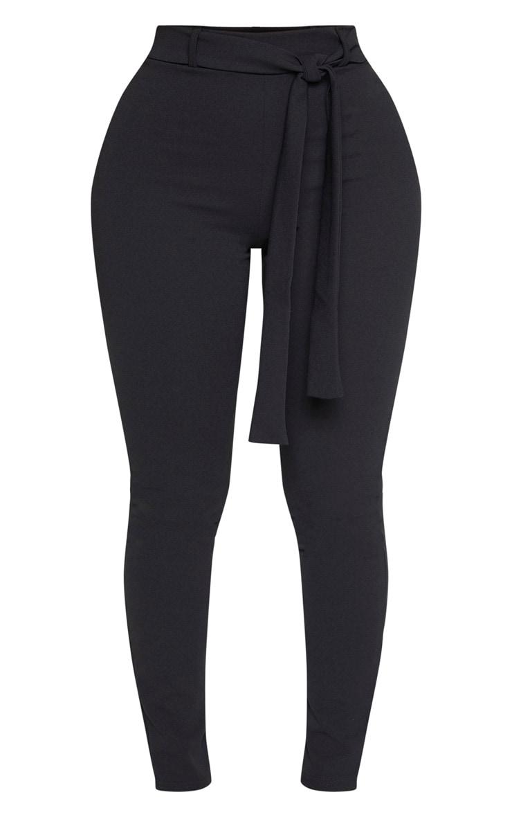 Shape Black Belted Tapered Pants 3