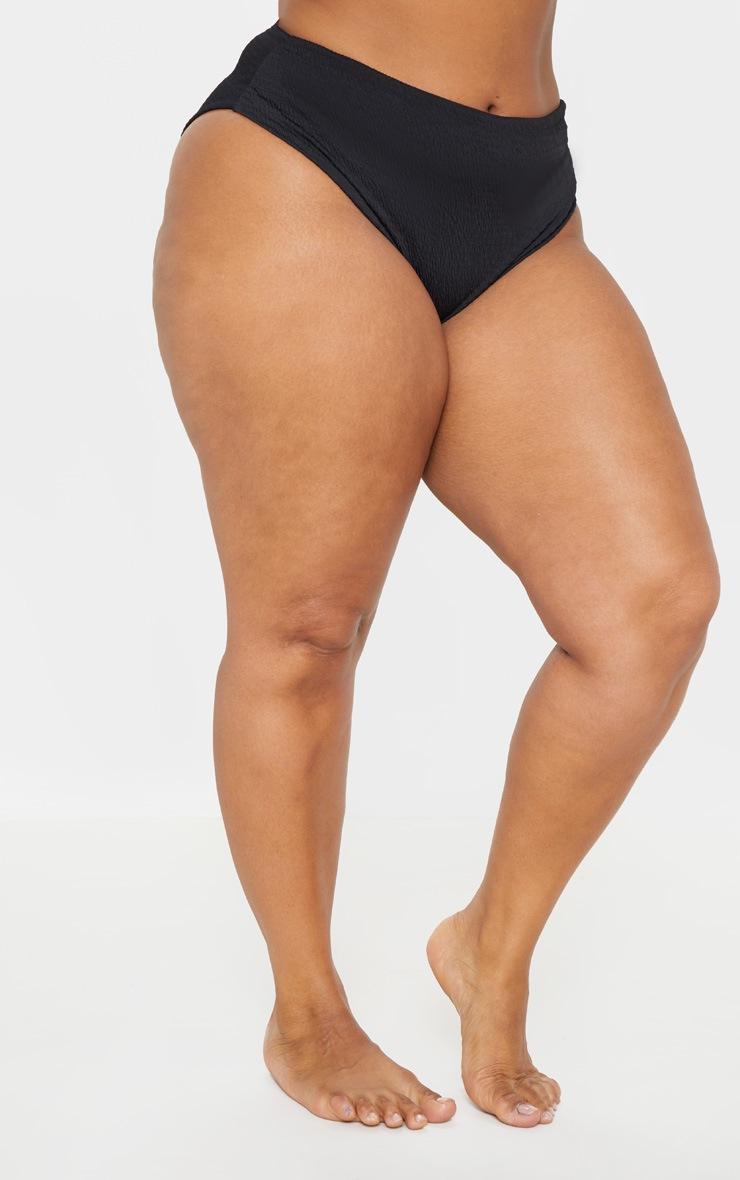 PLT Plus - Bas de bikini froncé noir 2