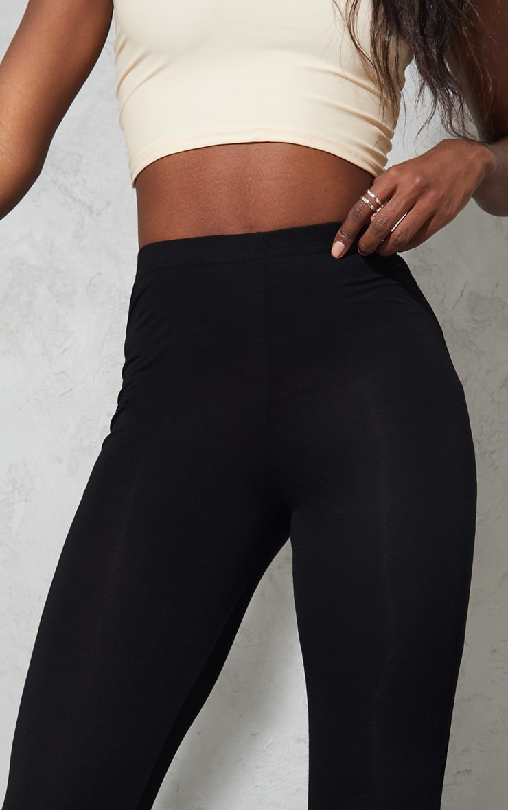 Tall Black Basic Jersey Leggings 4