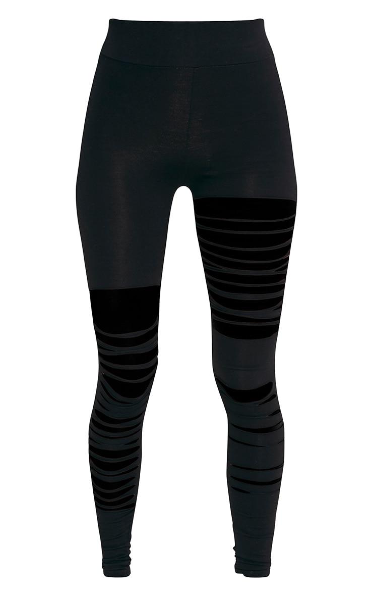 Terza Black Extreme Rip Leggings 3