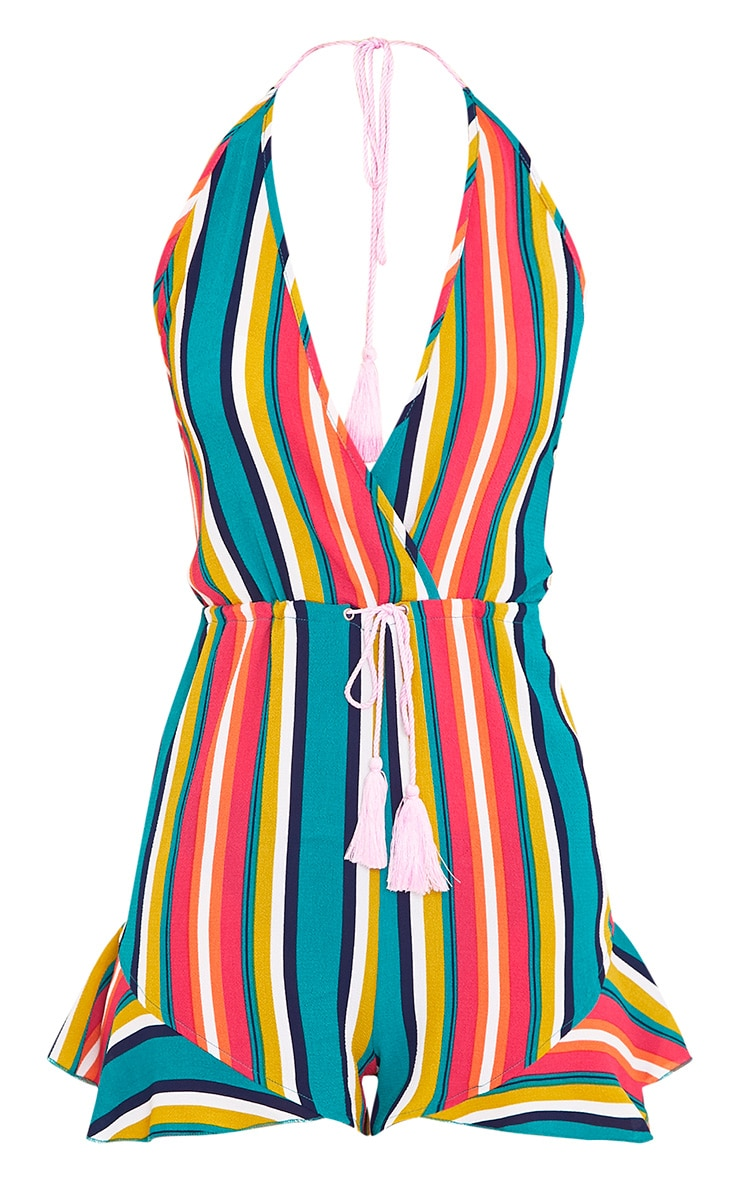 Kelis Multi Stripe Beachwear Playsuit  3