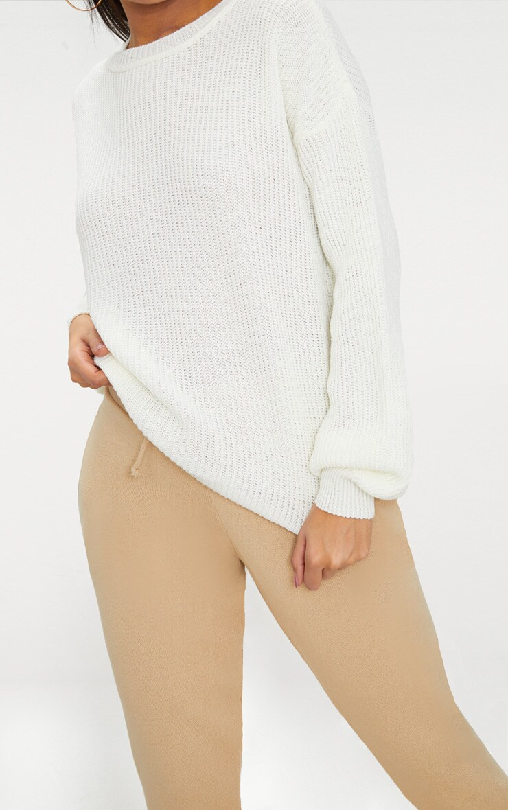 Cream Oversized Balloon Sleeve Jumper 6