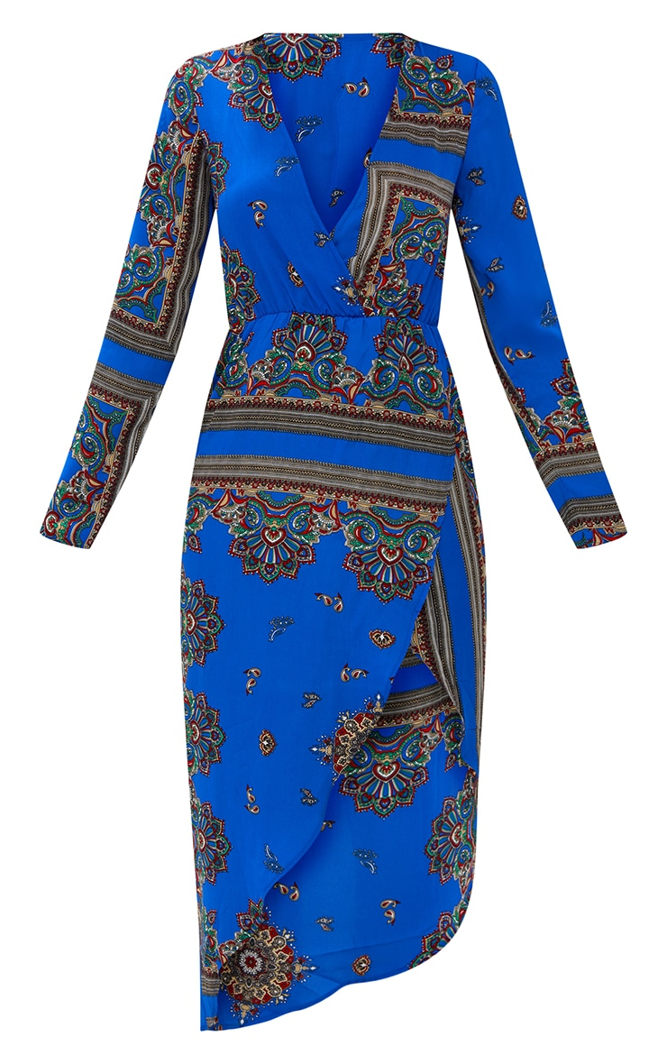Cobalt Printed Midi Dress 3