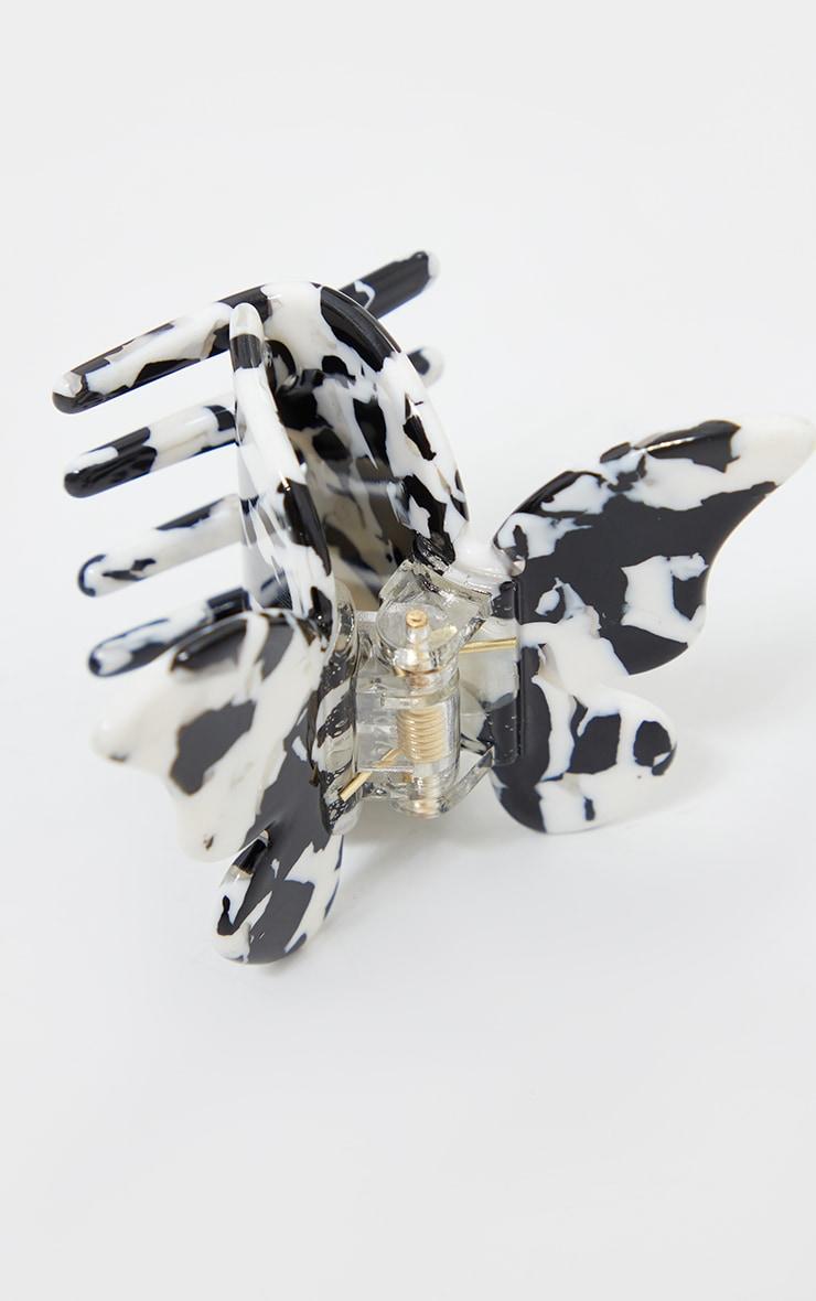 Black Marble Butterfly Hair Clip 3