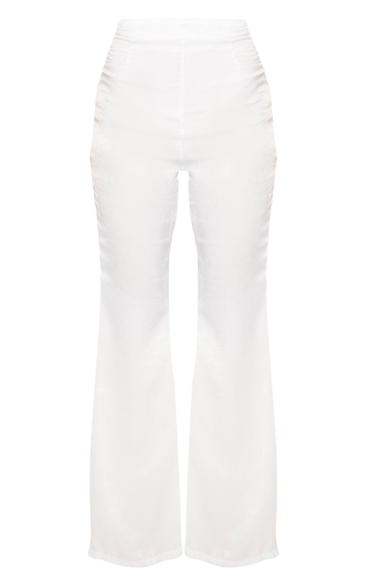 Petite White Tailored Extreme Flared Pants 3