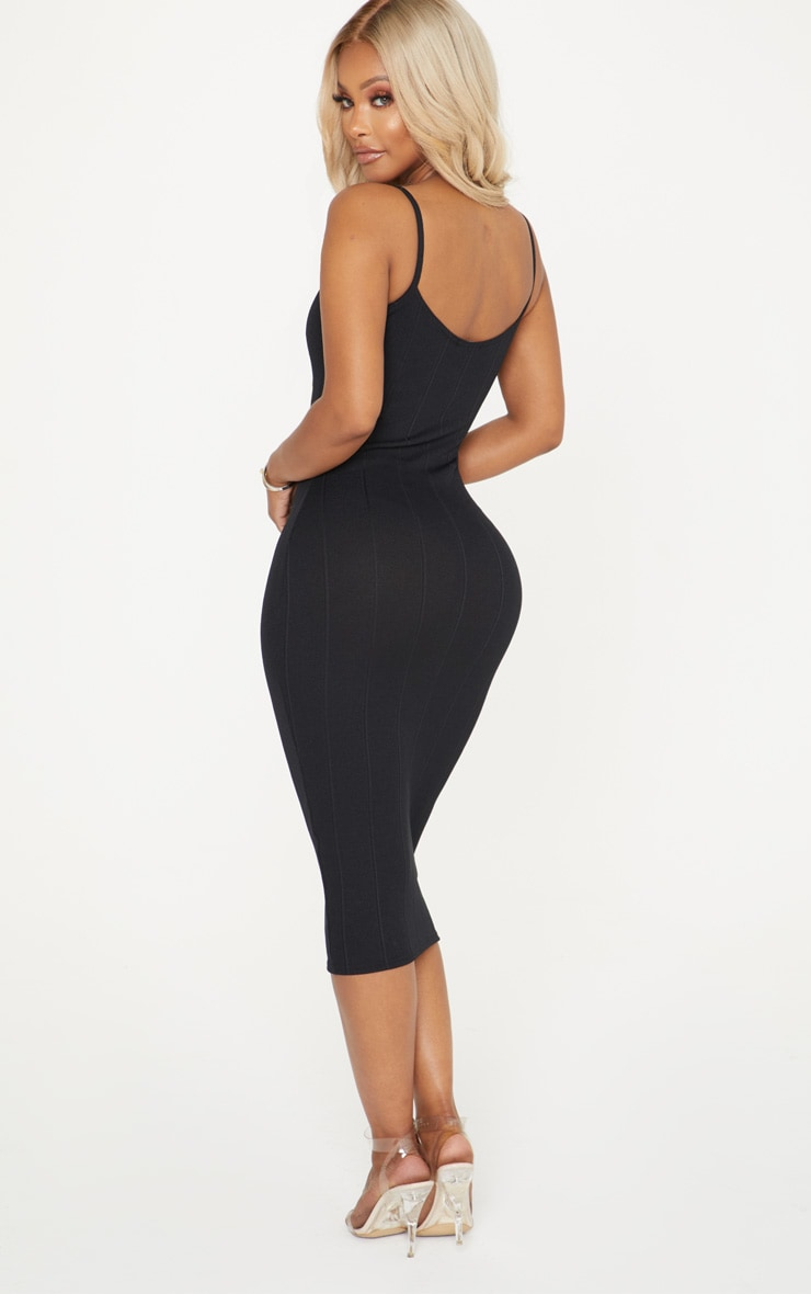 Shape Black Bandage Midi Dress 2