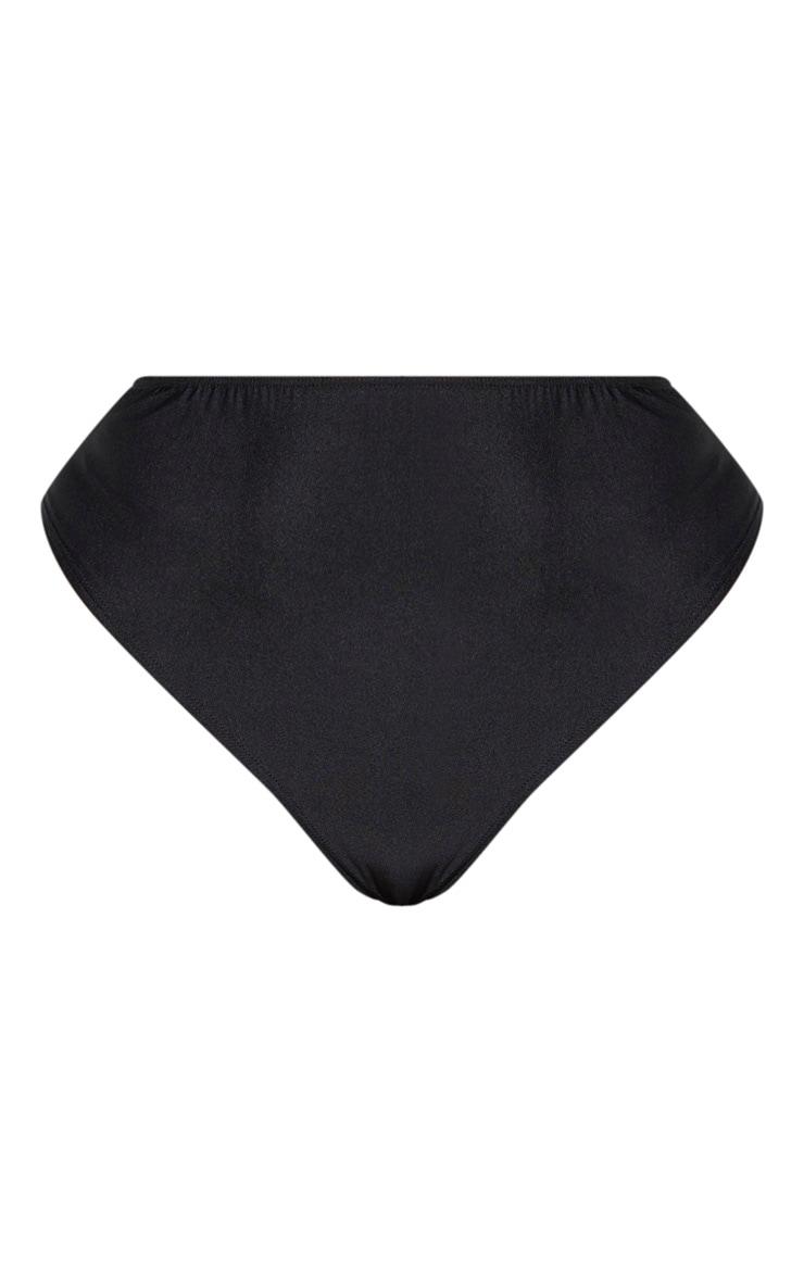 Plus Black High Rise Bikini Bottom 7