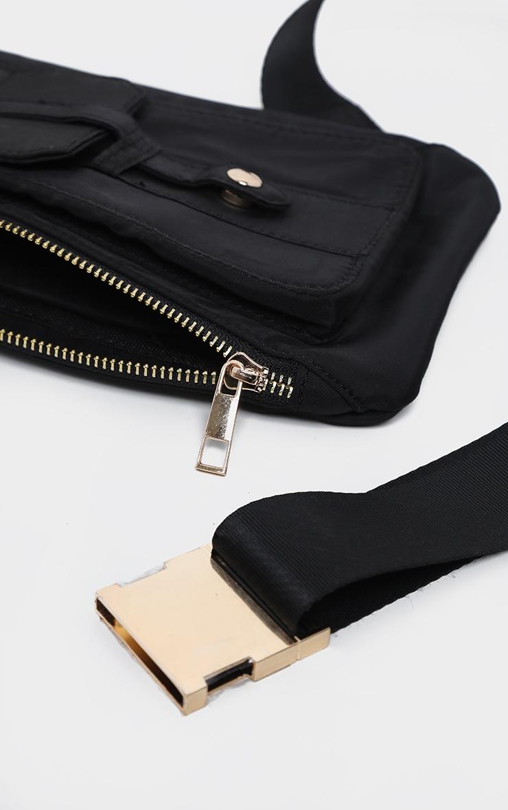 Black Front Messenger Bag 4