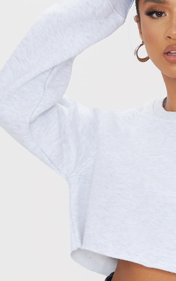 Petite Ash Grey Ultimate Cropped Sweater 4