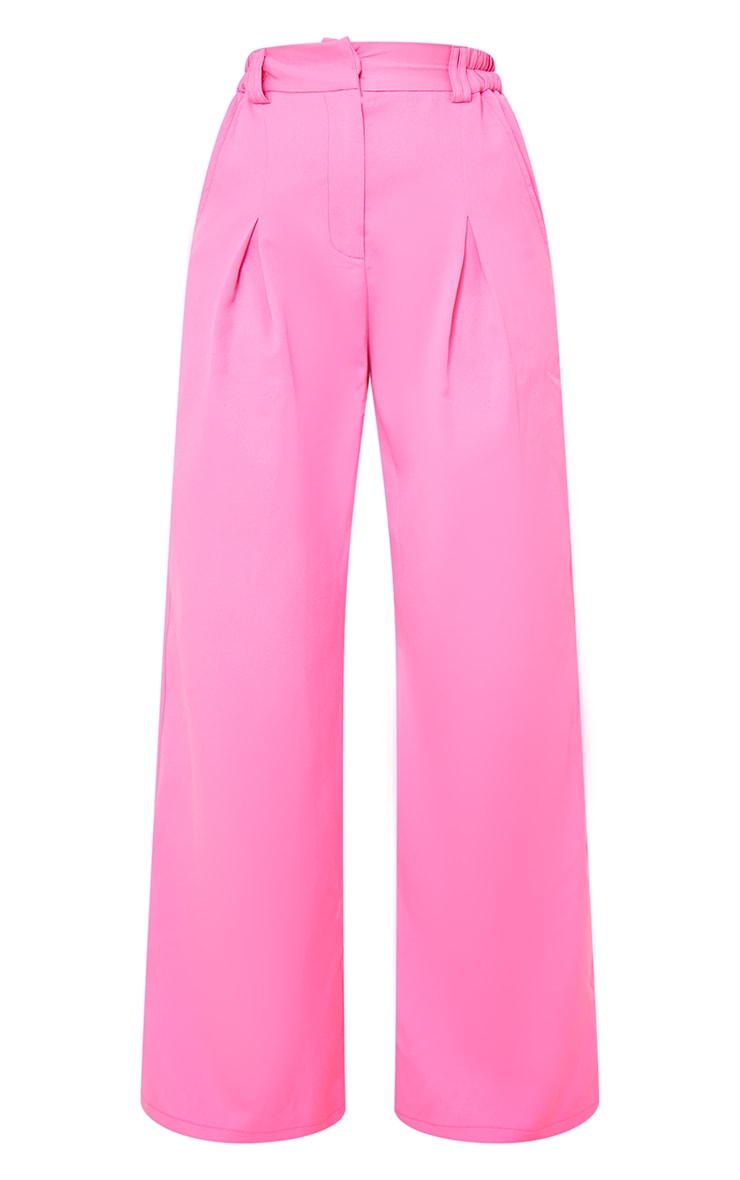 Petite Pink Elasticated High Waisted Pants 5