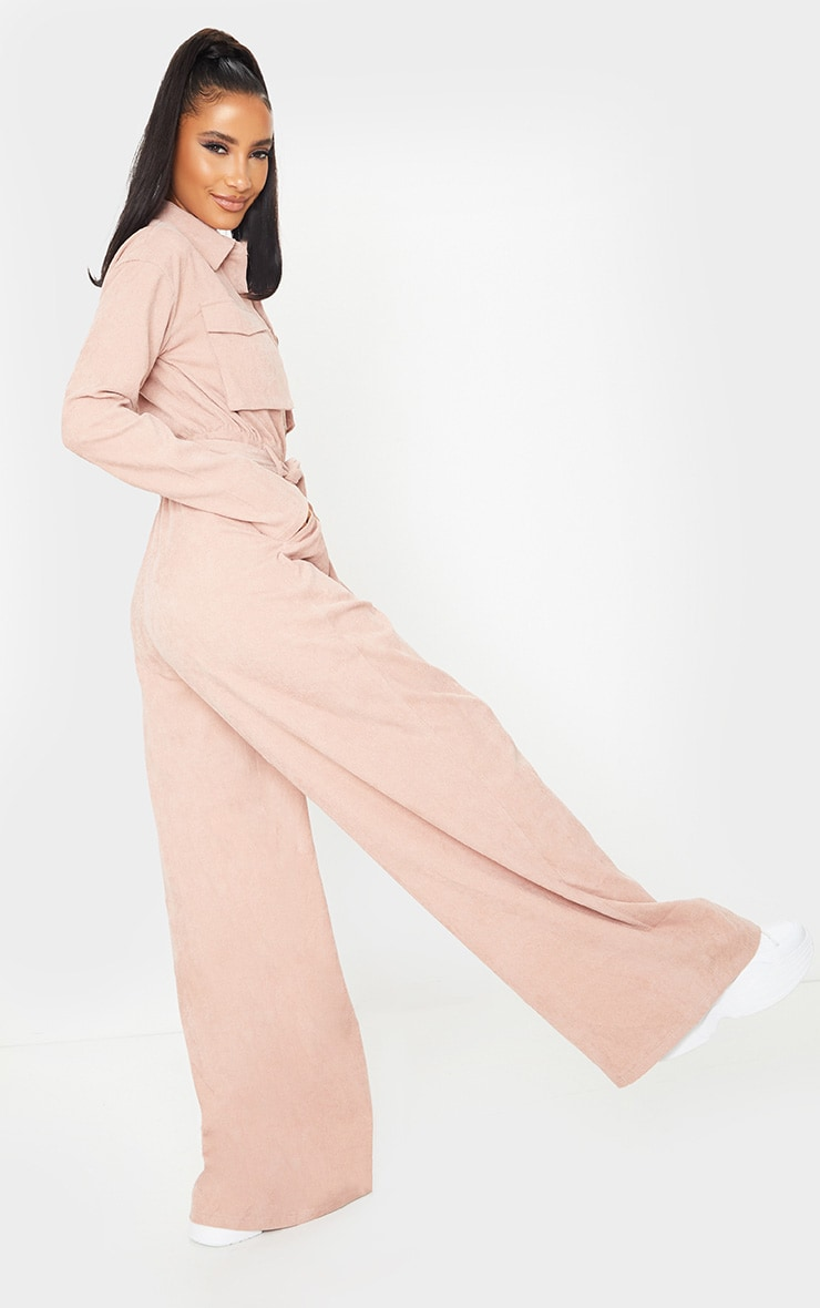 Blush Cord Pocket Detail Utility Jumpsuit 2