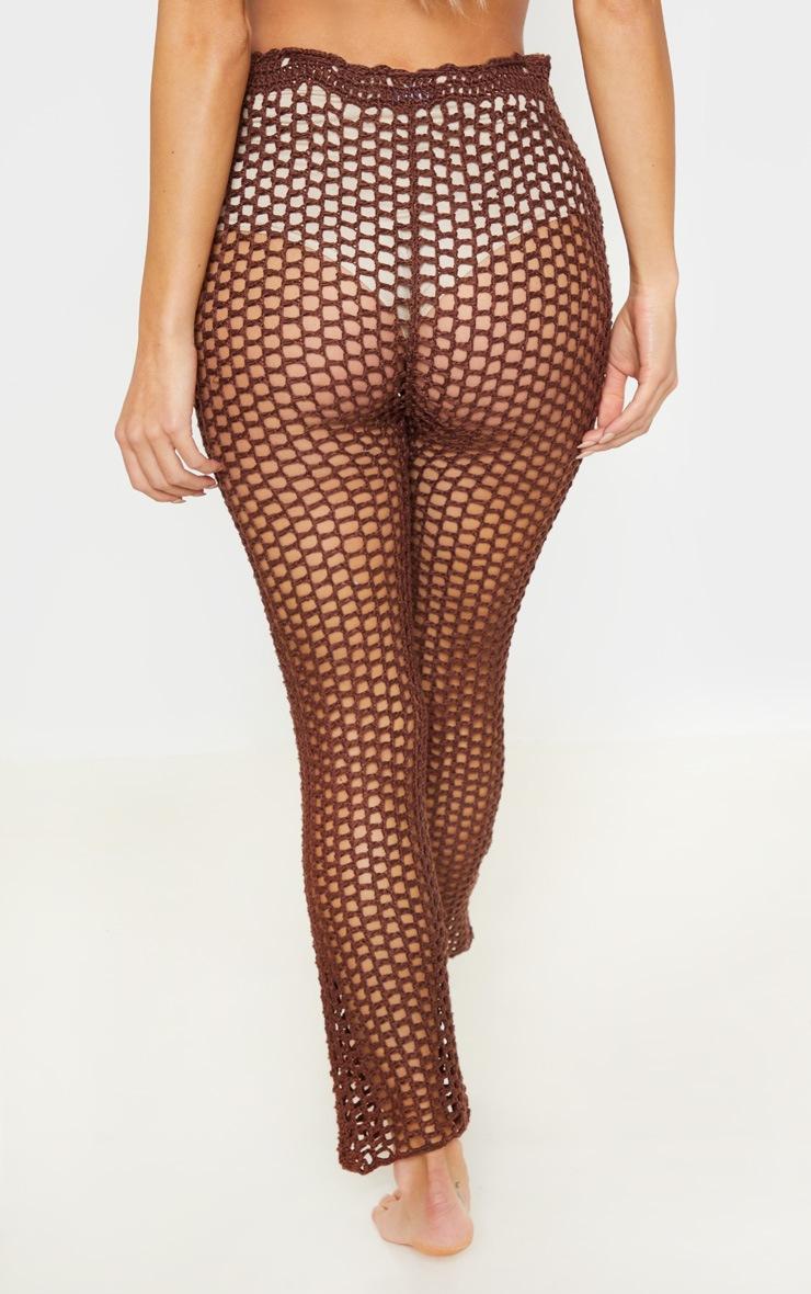 Chocolate Crochet Pants 4