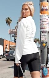 White Lace Up Corset Shirt 2