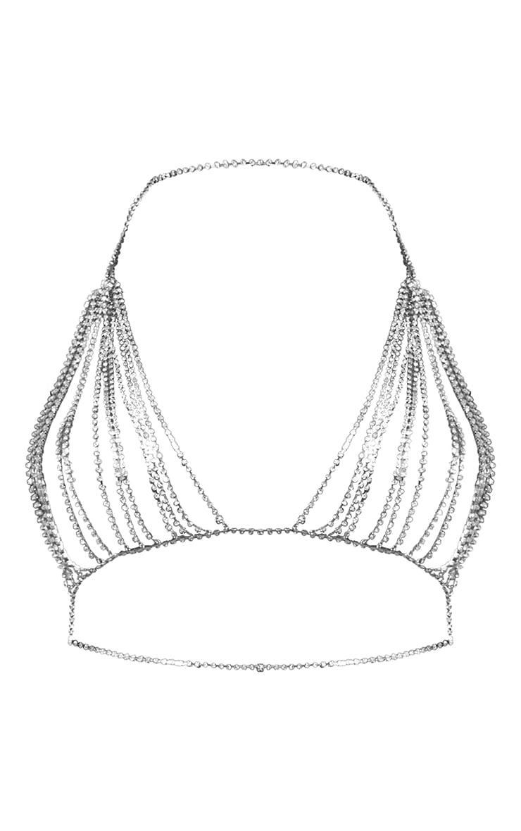 Silver Diamante Bralet 5