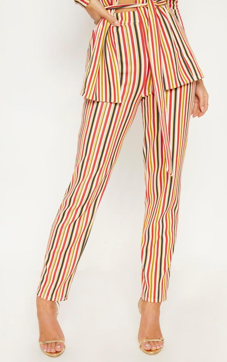 Mustard Striped Cigarette Trouser 3