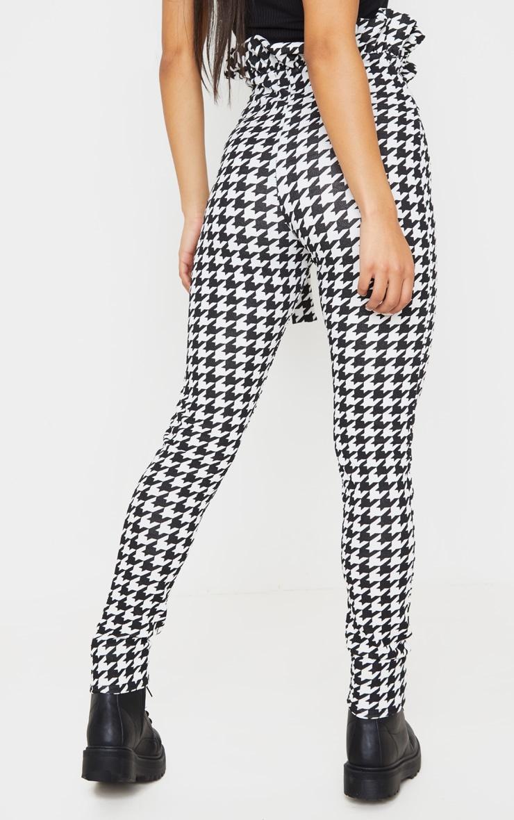 Dogtooth Tweed Check Paperbag Skinny Pants 4