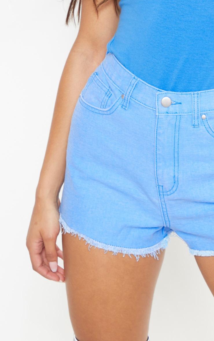 Bright Blue Denim Shorts  6