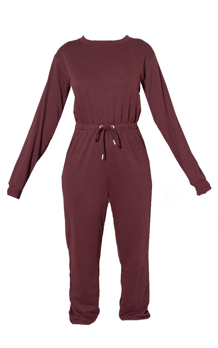 RENEW Chocolate Long Sleeve Sweat Jumpsuit 5
