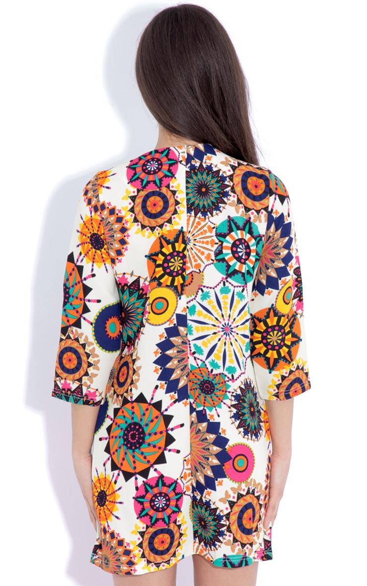 Hope Beige Hippy Print Shift Dress 2