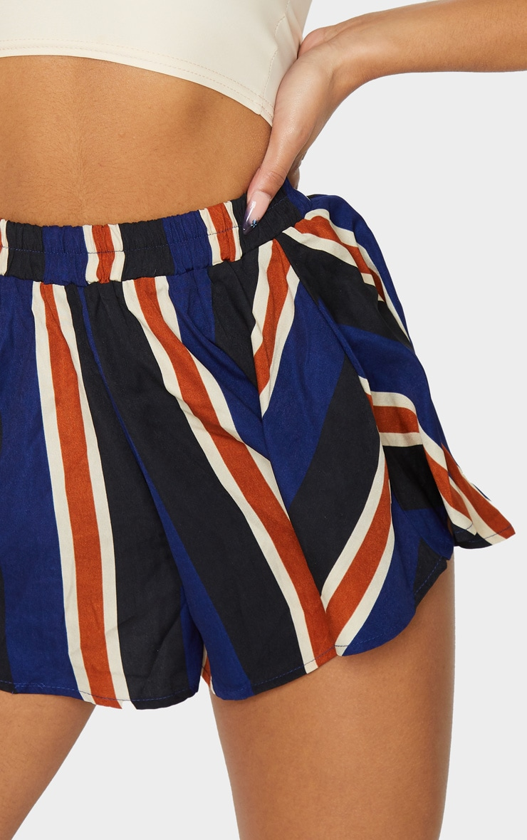 Navy Stripe Floaty Shorts 5