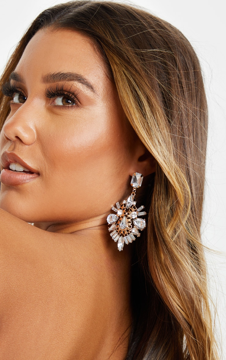 Crystal Ornate Statement Earring 1