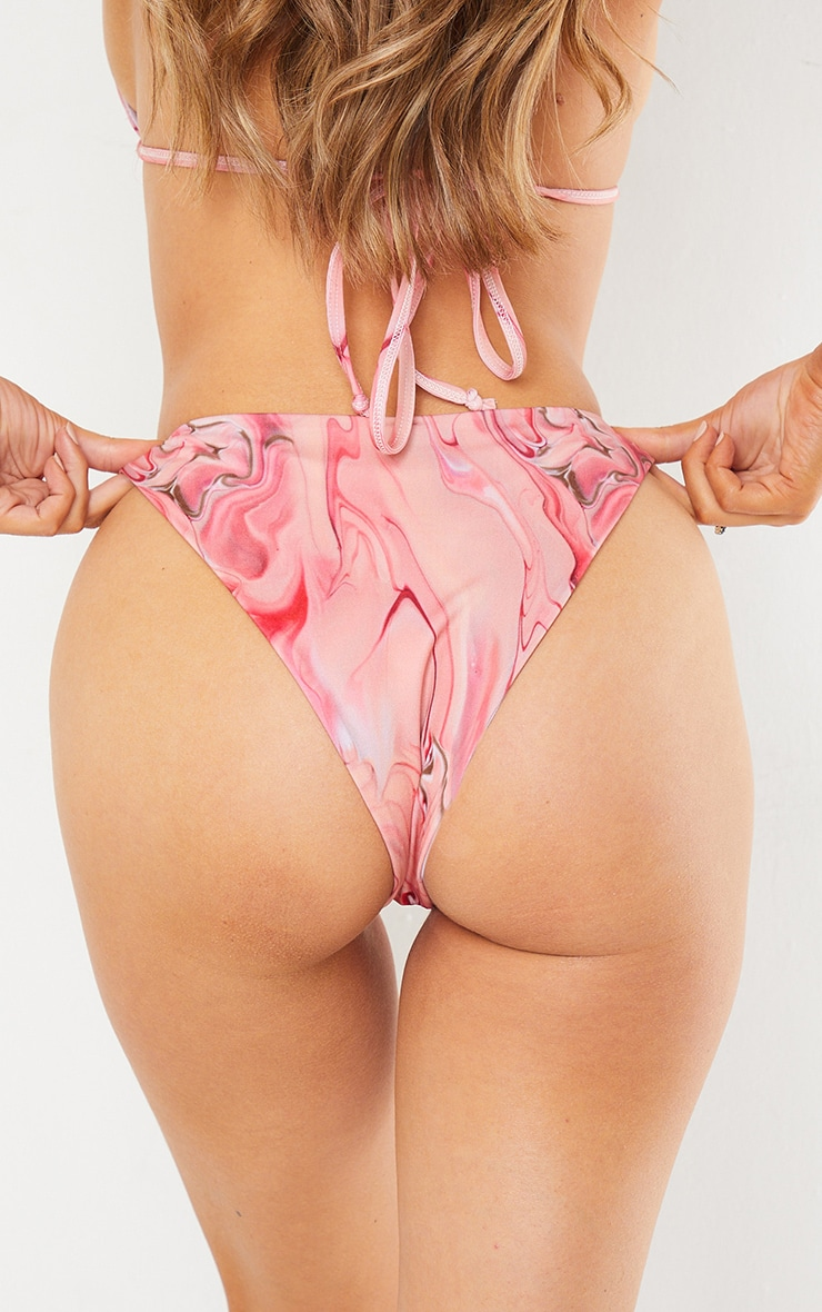 Pink Acid High Brazilian Bikini Bottom 3