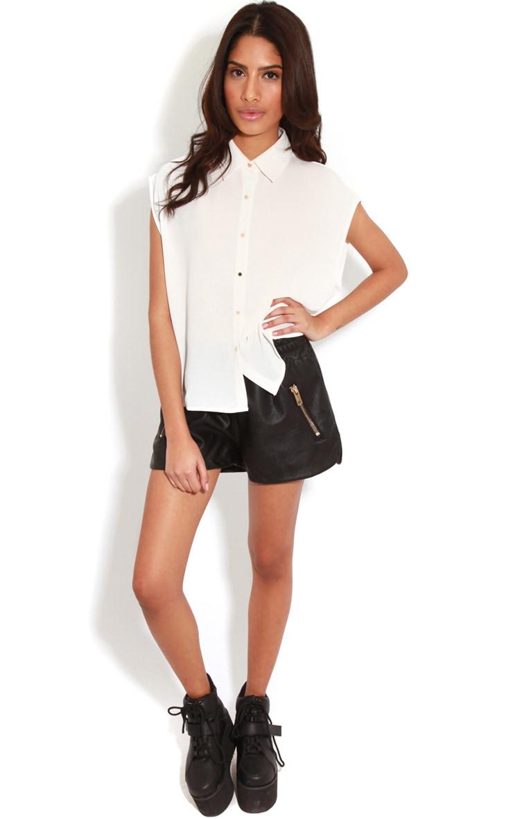 Effie White Chiffon Sleeveless Shirt -M/L 3