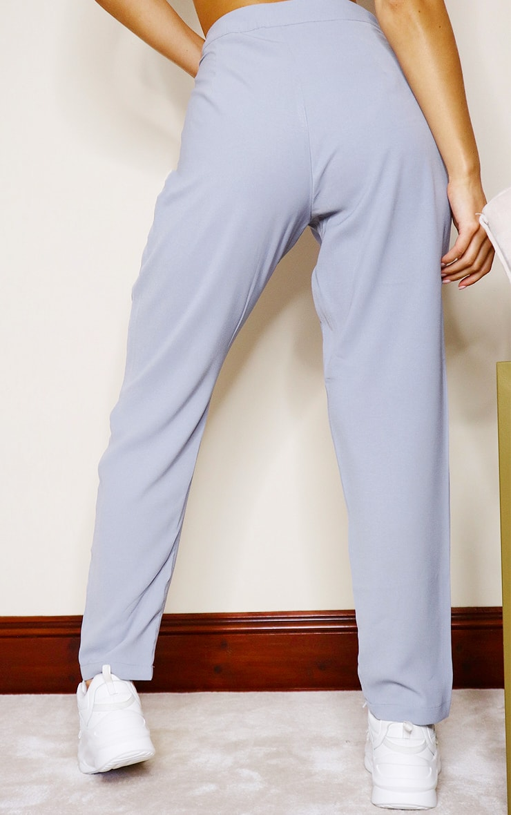 Dusty Blue Tailored Pants 3