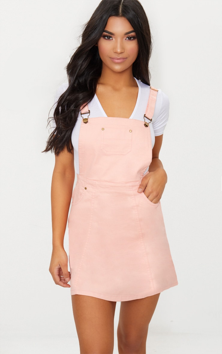 Martine White Denim Pinafore Dress Pretty Little Thing uQc9z