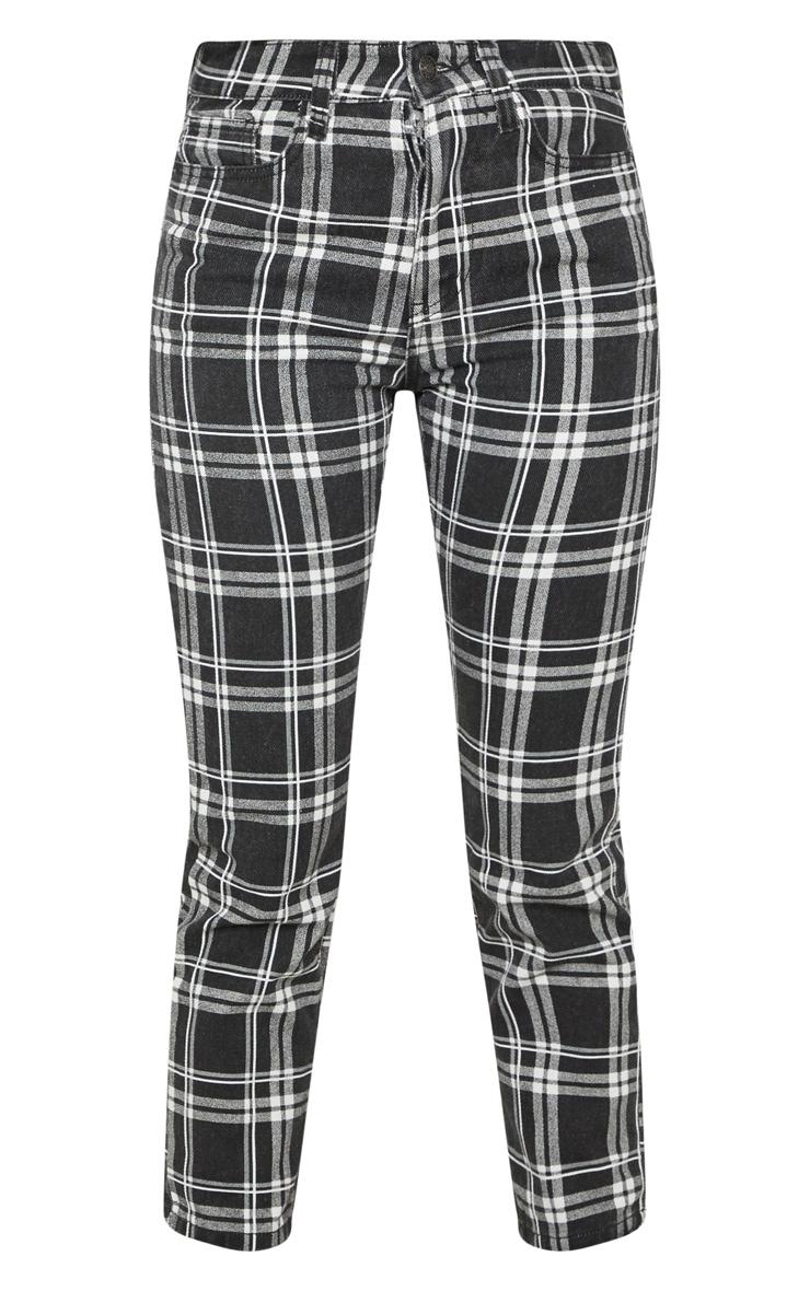 Monochrome Check Jeans 3