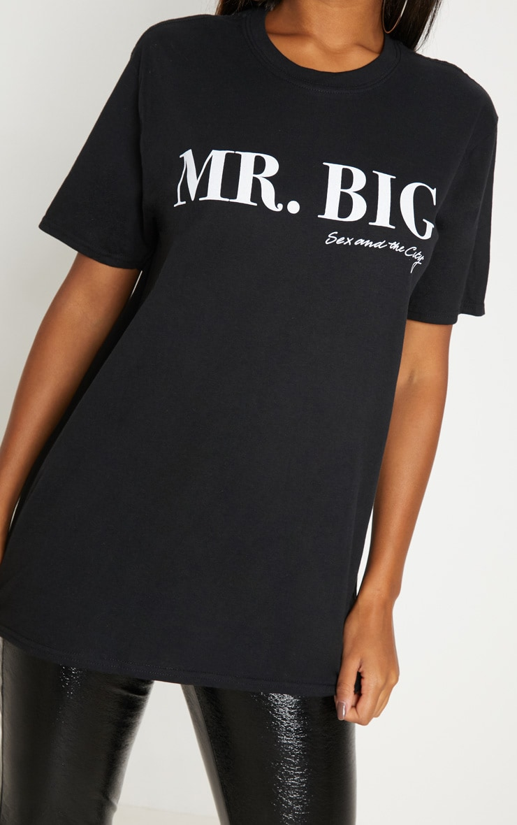 T-shirt oversized noir à slogan Mr Big 5