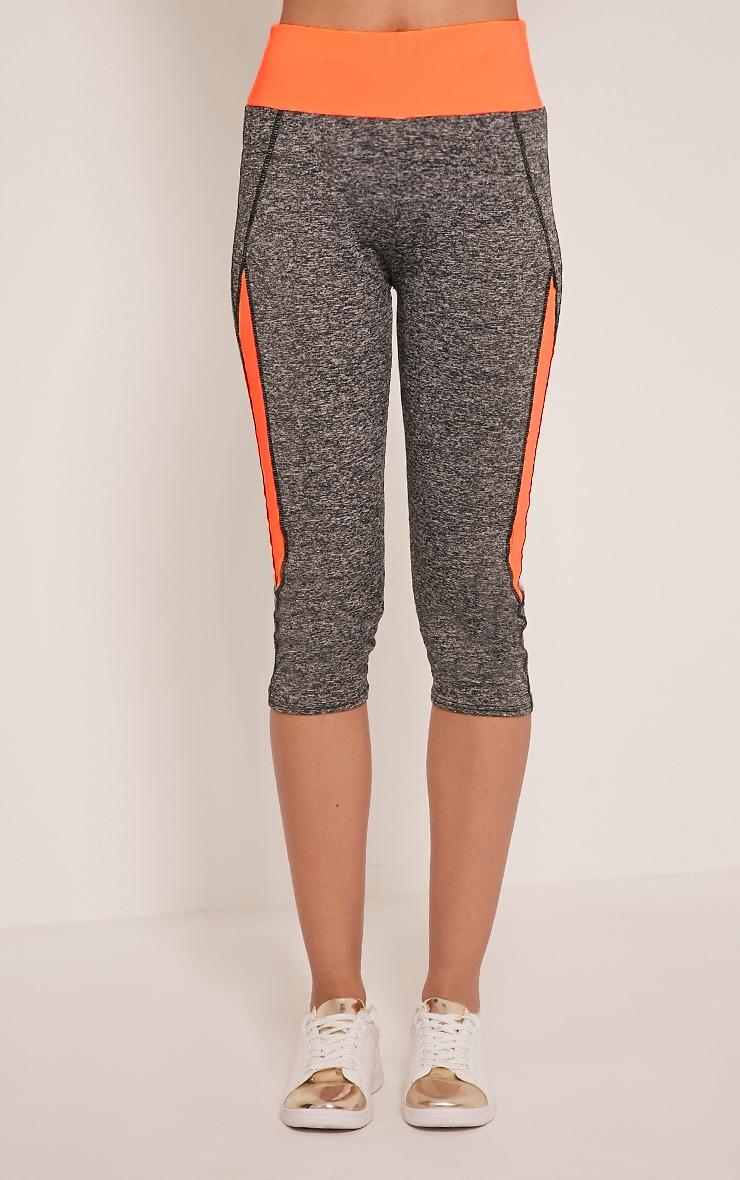 Jennie legging court sport orange à bandes 2