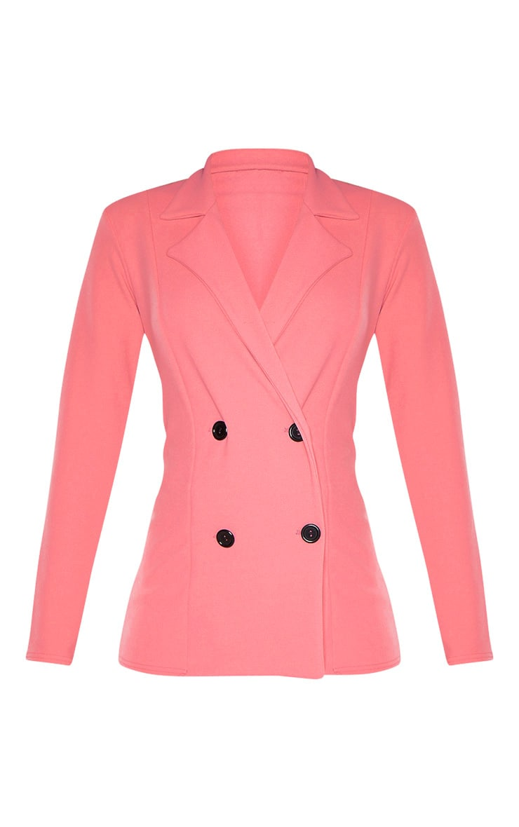 Coral Double Breasted Blazer  3