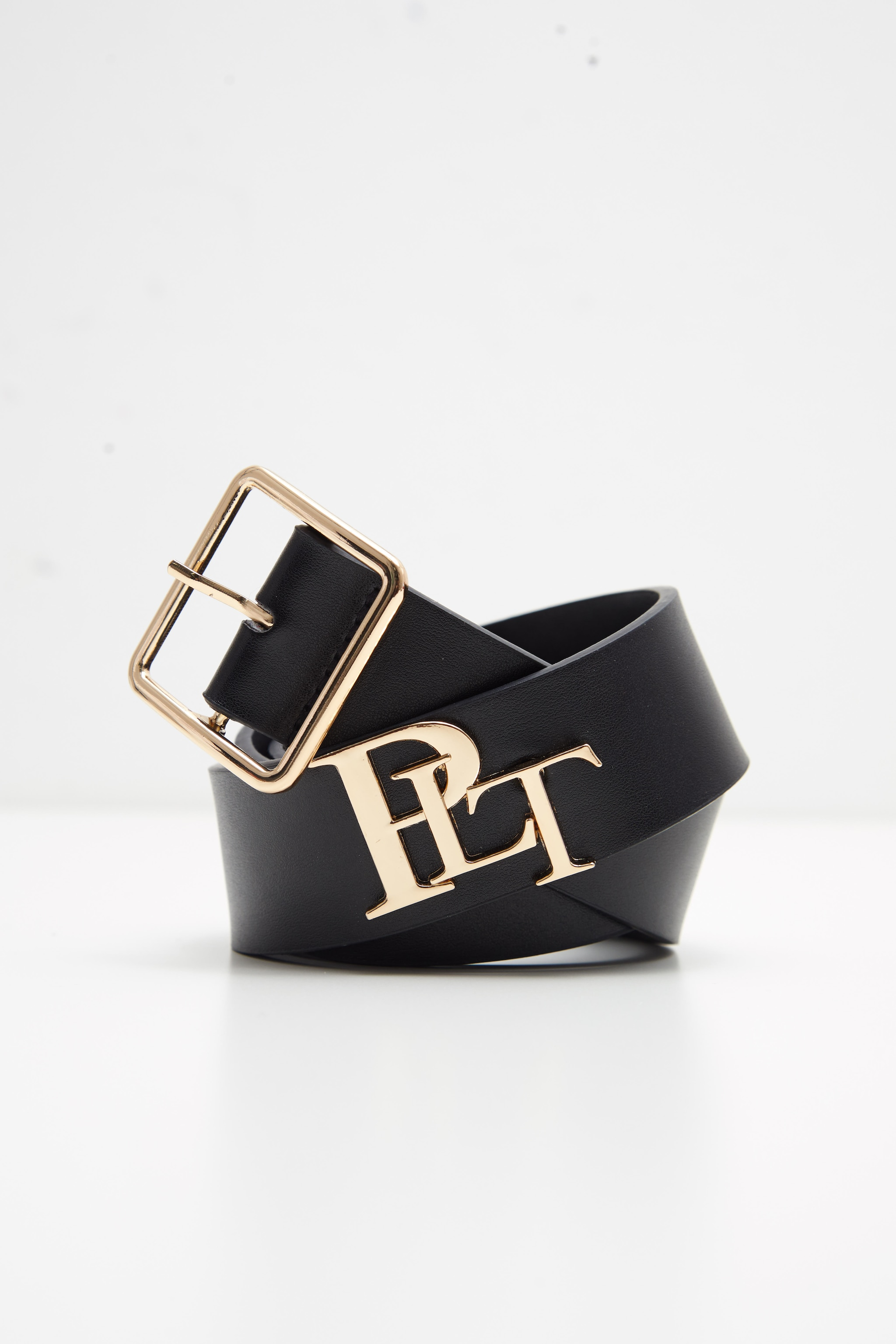 PRETTYLITTLETHING Logo Black Back Branded Buckle Belt 3