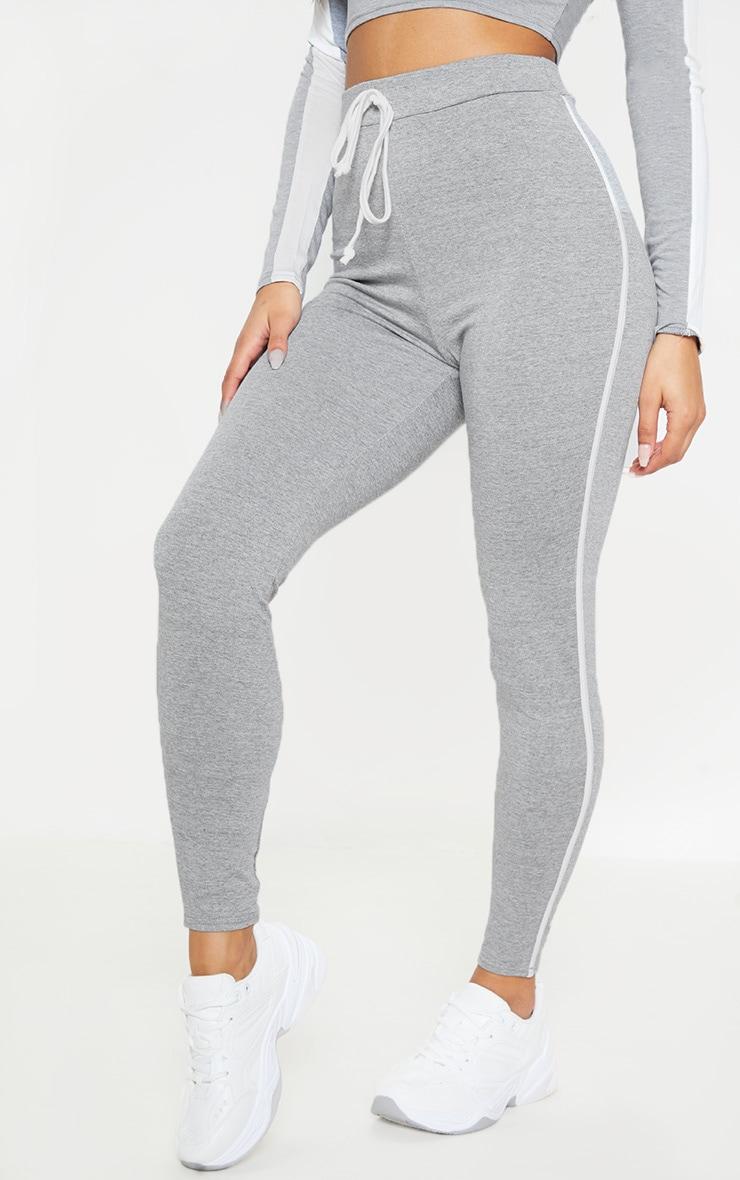 la meilleure attitude 95b18 68144 Legging gris à bandes contrastantes et cordons