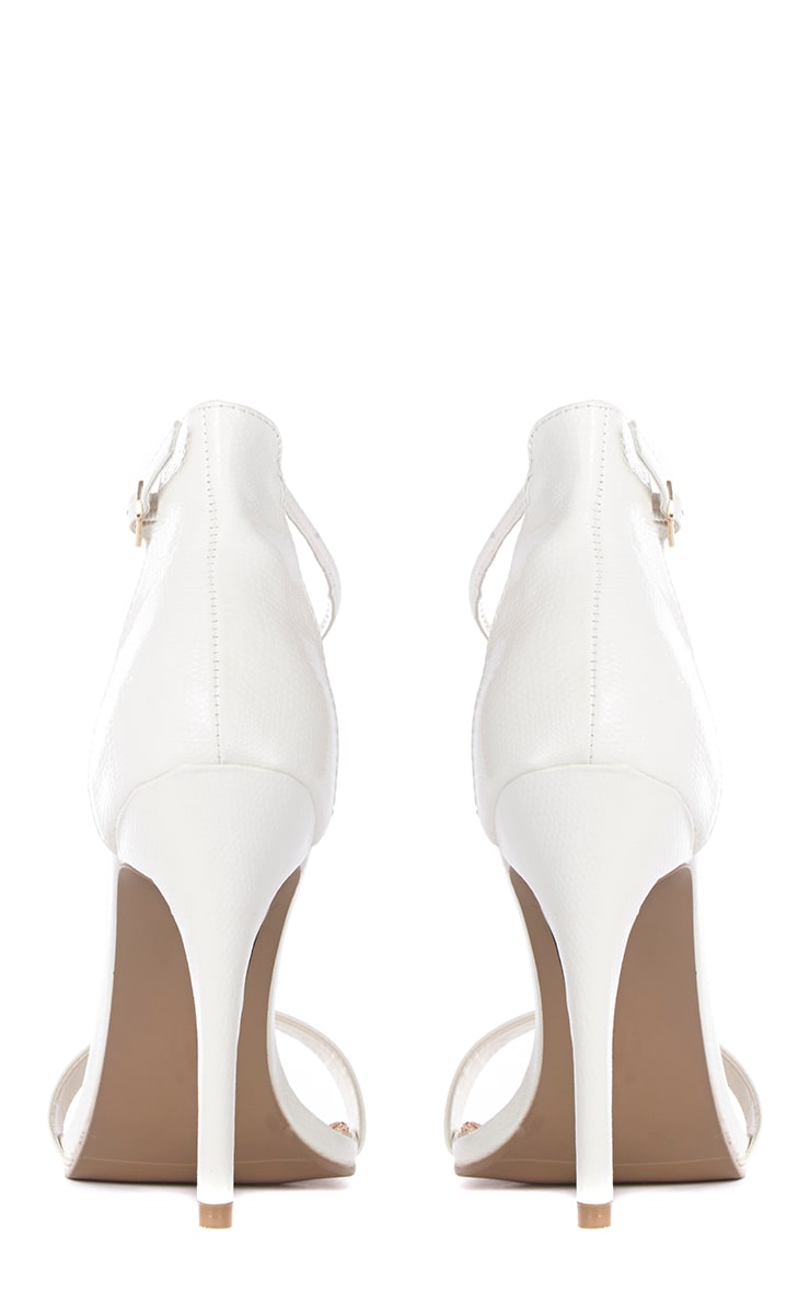 Jordan Cream Strappy T Bar Heeled Sandal 3