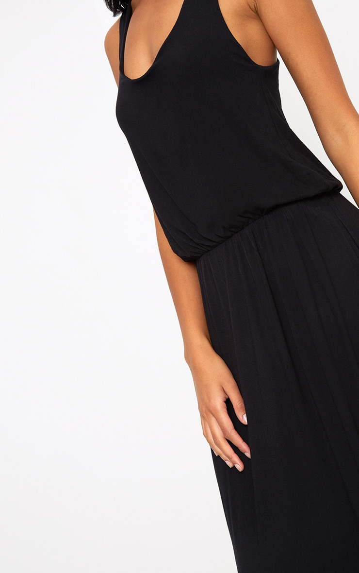 Black Bagged Over Maxi Dress 5